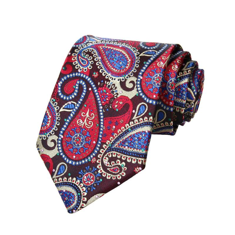 Tie Sets - Time Square Paisley Tie And Handkerchief