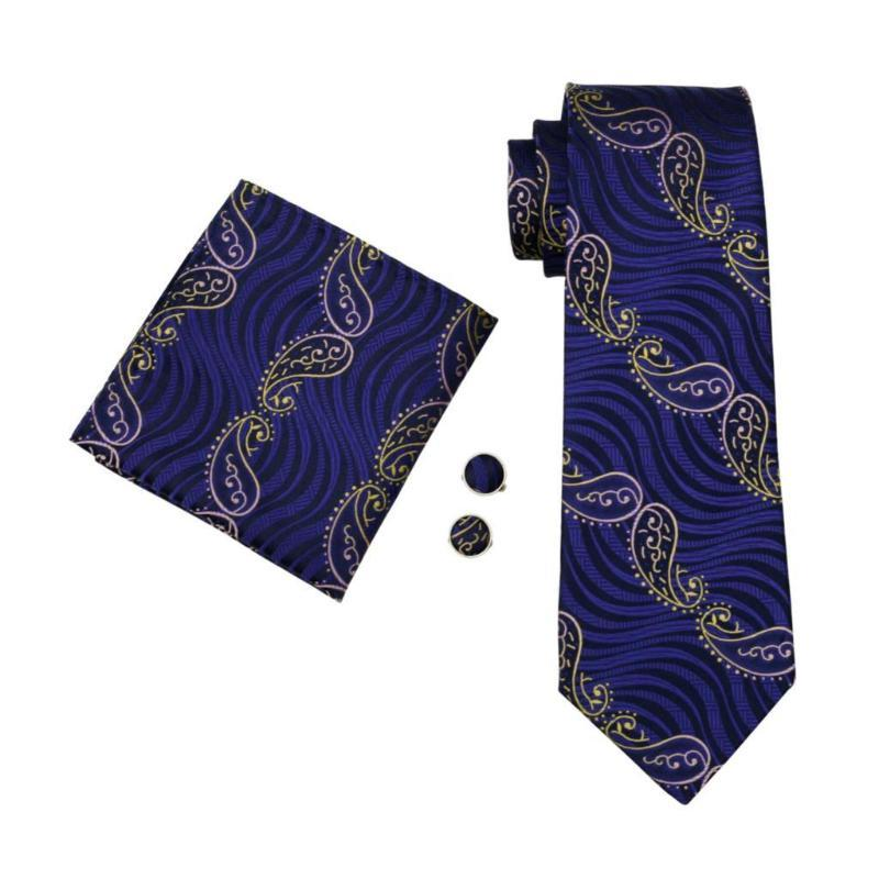 Whales in Love Tie, Pocket Square and Cufflinks - SOPHGENT