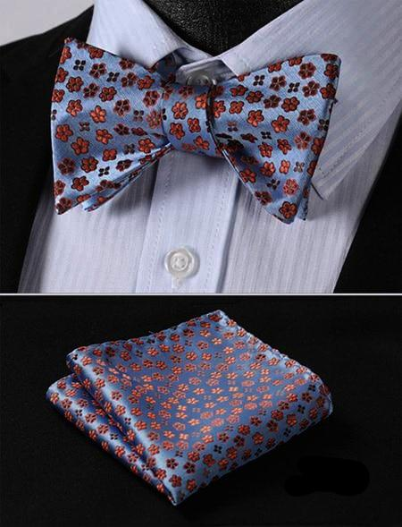 Daisies On Blue Sky Bow Tie and Pocket Square - SOPHGENT