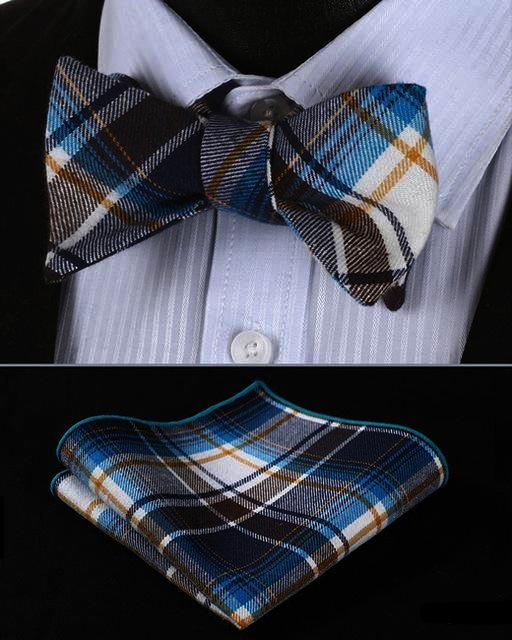 Tewart Of Appin Tartan Bow Tie and Pocket Square - SOPHGENT