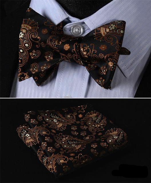 Eyes In The Dark Bow Tie and Pocket Square - SOPHGENT