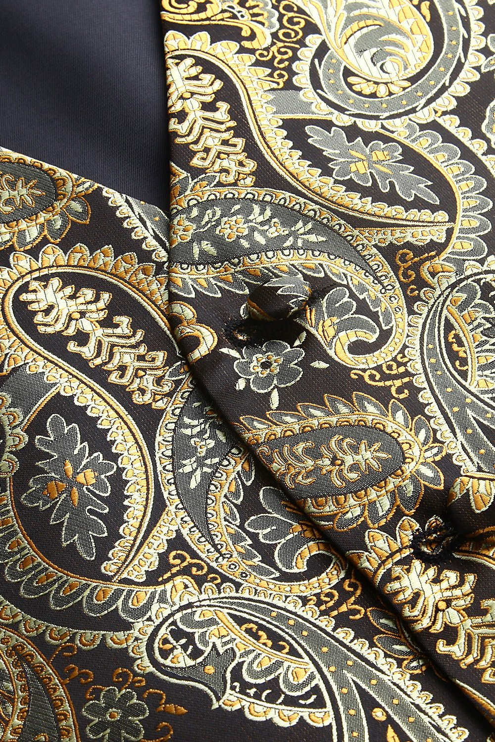 Gold and Brown Paisley Vest Set - SOPHGENT