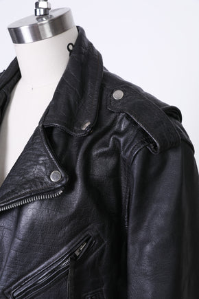 Found Traditional Leather Moto Jacket