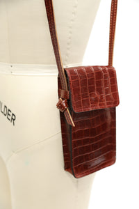 Leather Cell Phone Holder Cross Body Bag