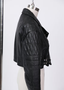 London Leather Connection Inc. Cropped Black Moto jacket