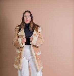 Found 1970's Uber Warm Shearling Coat