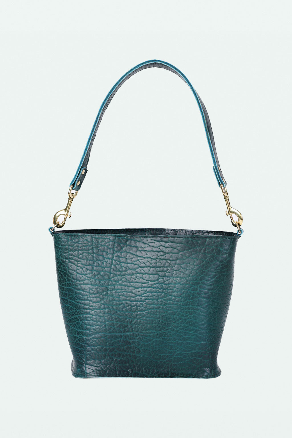 The Ruth Bucket Bag- Blue Bison