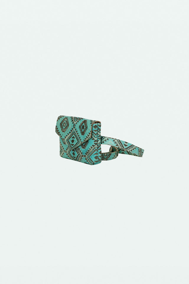 The Ellie Fanny Pack - Turquoise Ikat