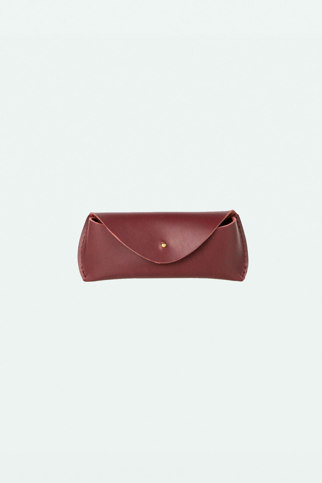 Leather Glasses Case - Oxblood