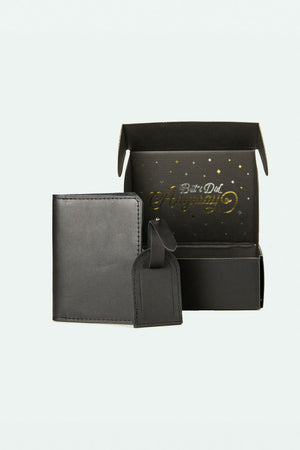 Gift Set - Passport Holder and Matching Luggage Tag