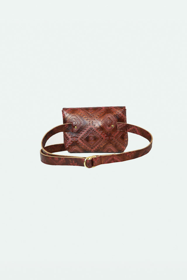 Ellie Fanny Pack - Red Ikat