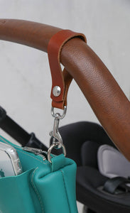 Leather Stroller Clips