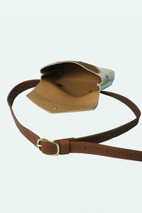 Leather Fanny Pack - Tan Hair on Hide