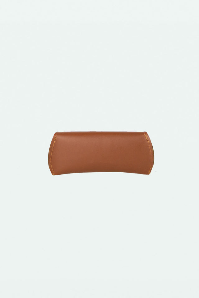 Leather Glasses Case - Cognac