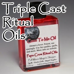 Papa Crow Triple Spell Cast Ritual Oils