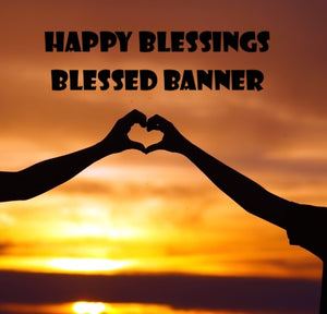 Happy Blessings Banner