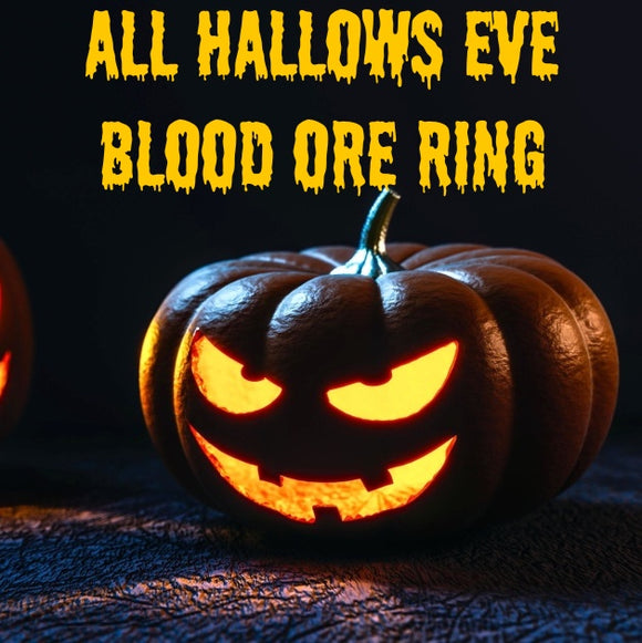 All Hallow's Eve Voodoo Spell Blood Ore Ring