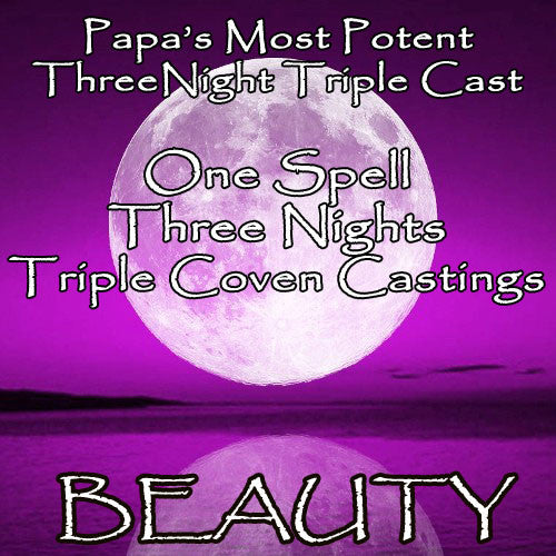 Beauty Voodoo Spell Three Night Triple Coven Casting