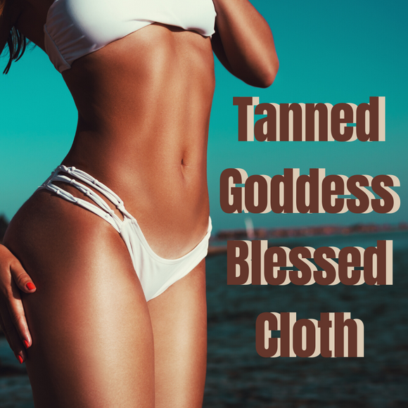 Tanned Goddess Blessed Banner