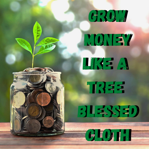 Grow Money Like A Tree Blessed Banner