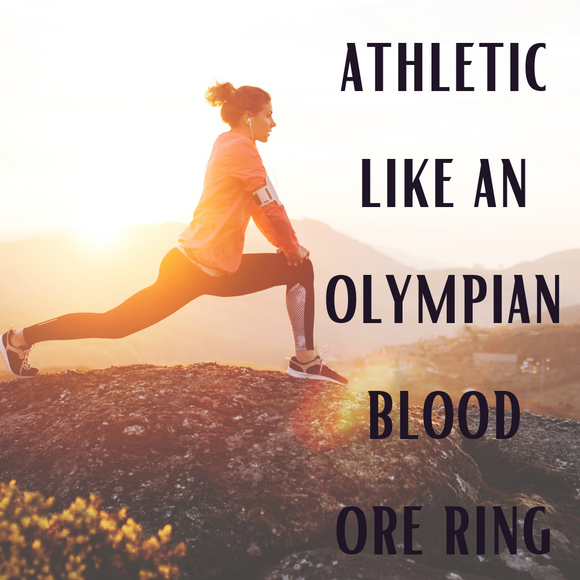 Athletic Like An Olympian Voodoo Spell Blood Ore Ring