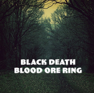 Black Death Curse Blood Ore Ring