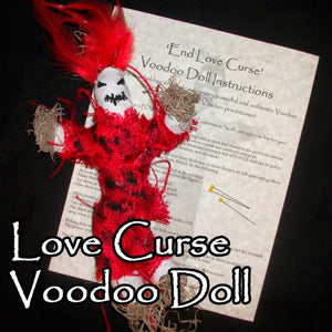 The Love Curse Voodoo Dolls turns their love, marriage, or relationship into a living hell