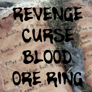 Revenge Curse Blood Ore Ring