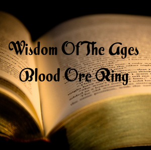 Wisdom Of The Ages Blood Ore Ring