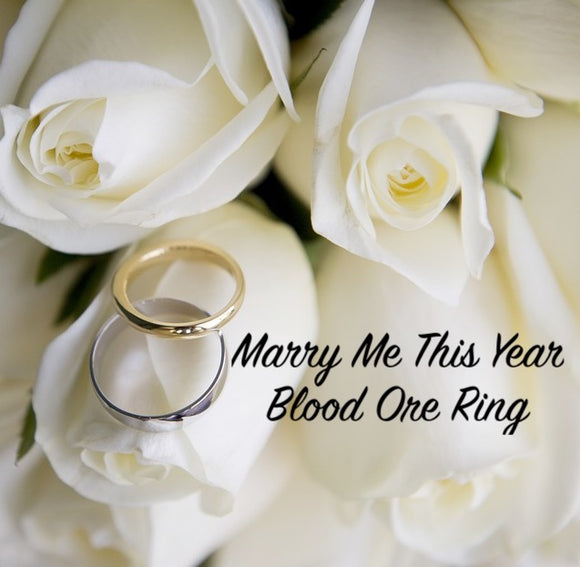 Marry Me This Year Blood Ore Ring