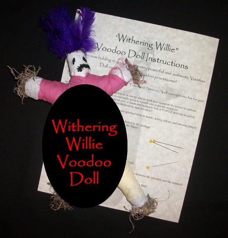 Withering Willie Penis Shrinking Impotence Voodoo Doll