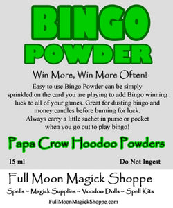 Bingo Powder is blended especially to add luck and winning success to bingo game playing
