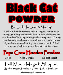 Black Cat Powder is perfect for turning luck from bad to good in gambling, money matters, and romance.
