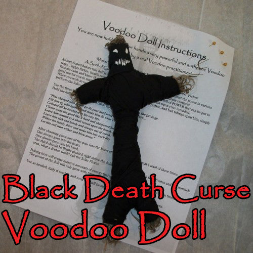 Black Death Curse Voodoo Doll