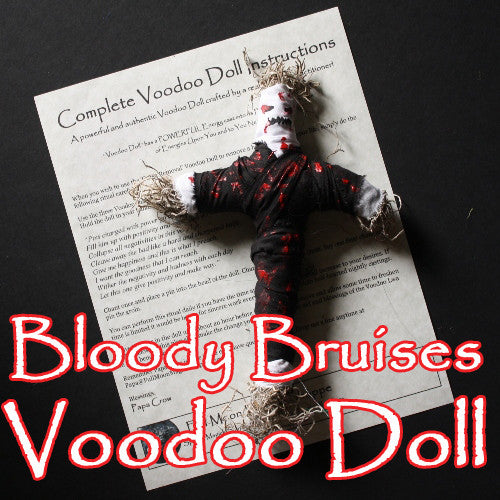 The Bloody Bruises Voodoo Doll is crafted for maximum pain and suffering curses on the deserving.