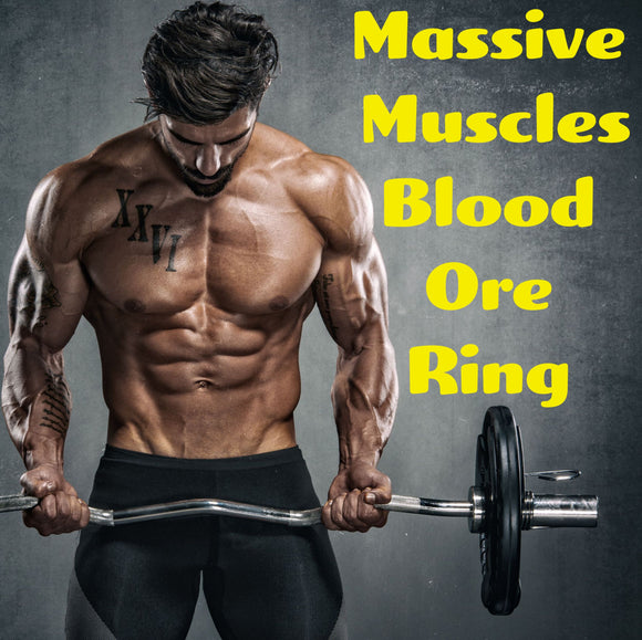 Massive Muscles Voodoo Spell Blood Ore Ring