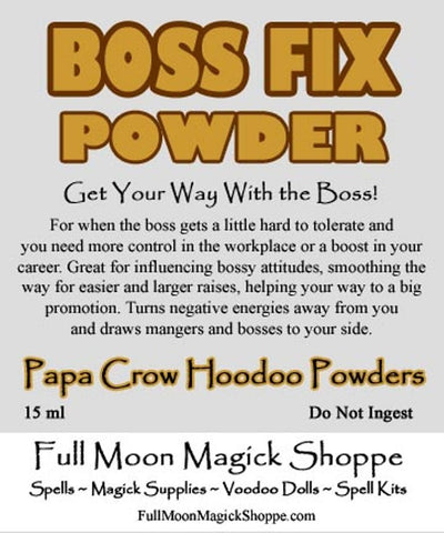 Boss Fix Powder fixes bosses, makes bad bosses better, gets evil bosses fired