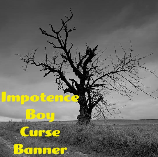 Impotence Boy Curse Banner