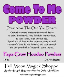 Come To Me Powder draws the one you desire right into your arms and your life