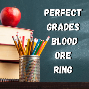 Perfect Grades Blood Ore Ring