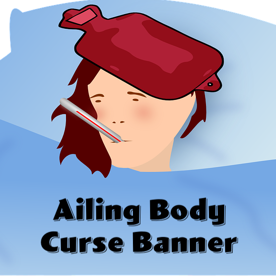 Ailing Body Curse Banner