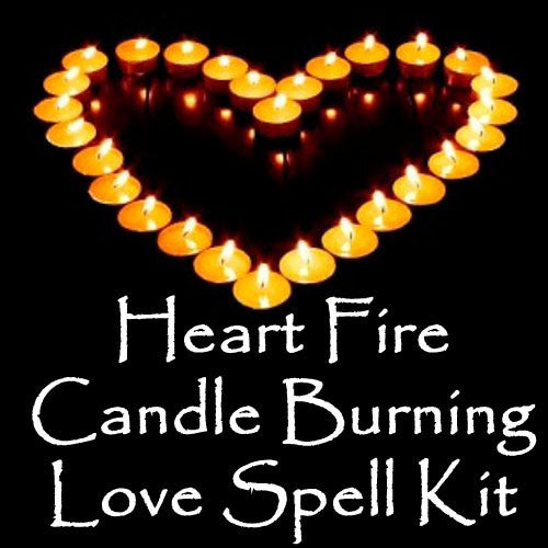Heart Fire Love Spell Candle Magick Ritual Kit