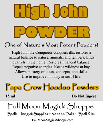 High John the Conqueror Powder is versatile and used in all manner of magick spells and works