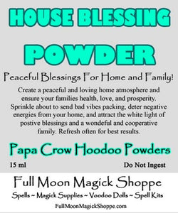 House Blessing Hoodoo Powder banishes negative energy, prevents bad vibrations, and makes a happy home.