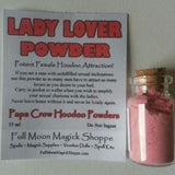 Lady Lover Hoodoo Powder increases male sex charisma and attracts lovers to your bed