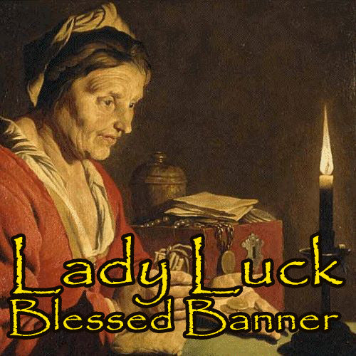 Lady Luck Voodoo Spell Blessed Banner