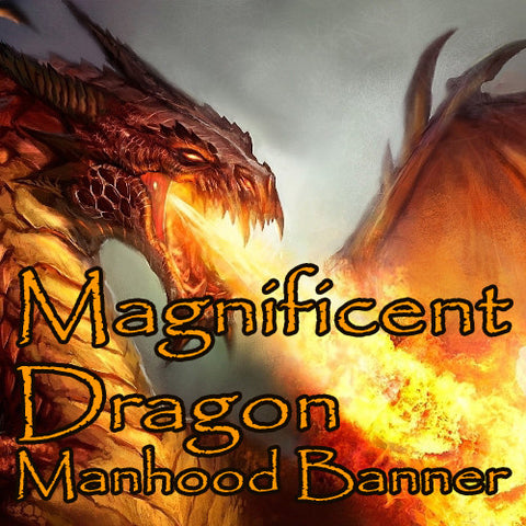 Magnificent Dragon Voodoo Spell Manhood Banner