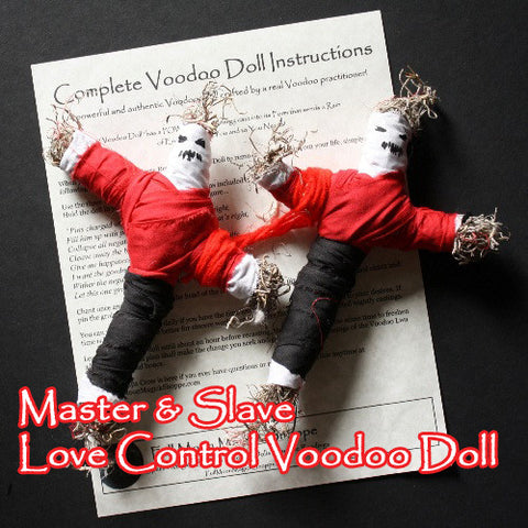 Master Slave Voodoo Doll Set gives you total control over your partner in love, romance, sex, and life.