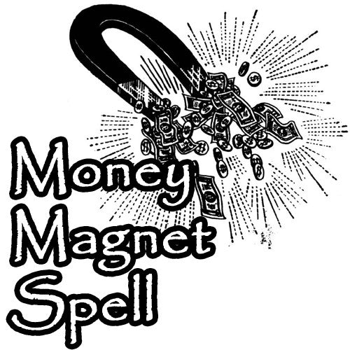 The Money Magnet Spell with Blessed Totem Draws Cash, Money, Income, And Winnings Into Your Life