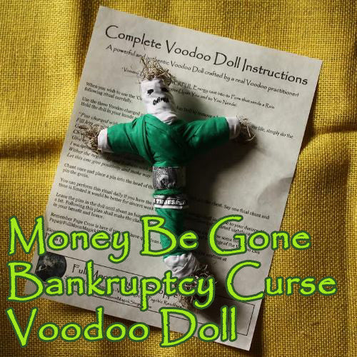 Money Be Gone Bankruptcy Curse Doll
